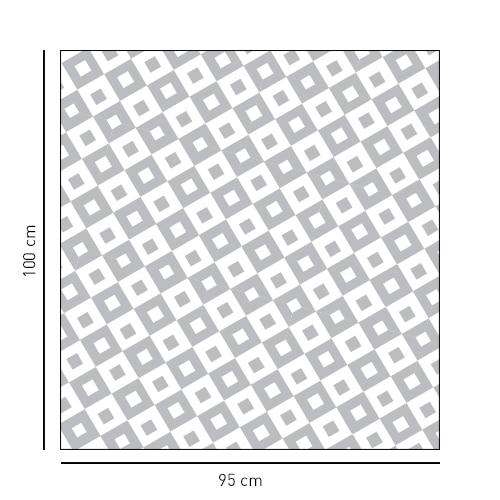 Sticker moyens carrés noir et blanc pour paroi de douche