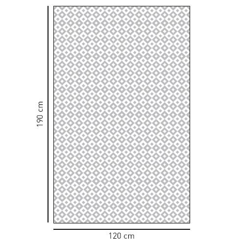 Sticker petits carrés noir et blanc déco pour salle de bain