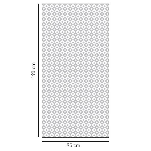 Sticker Petits carrés noir et blanc pour salle de bain