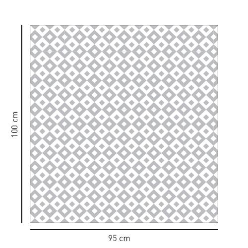 Sticker autocollant Petits carrés noir et blanc pour paroi de douche