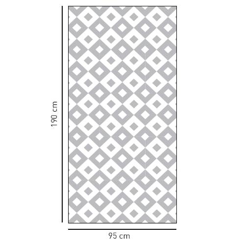 Sticker adhésif Grands carrés noir et blanc déco pour salle de bain