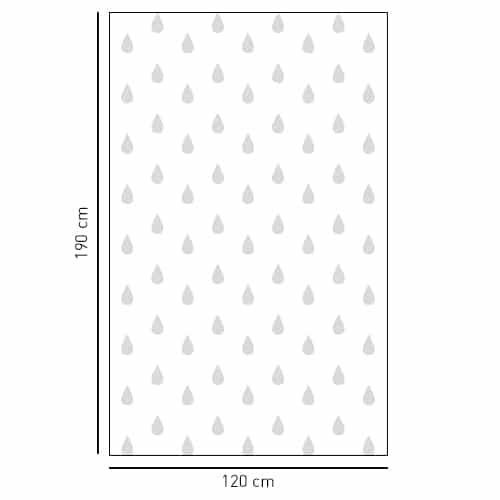 Sticker Petites gouttes déco pour la salle de bain