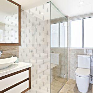 Sticker Petites Gouttes dans une salle de bain