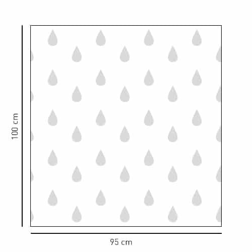Sticker autocollant Petites Gouttes pour paroi de douche