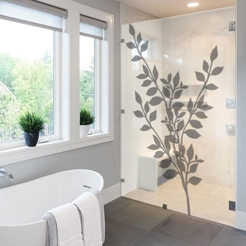 Sticker autocollant Feuillages dans une salle de bain
