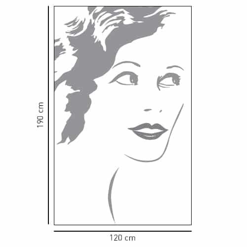 Sticker adhésif silhouette femme pour déco de salle de bain