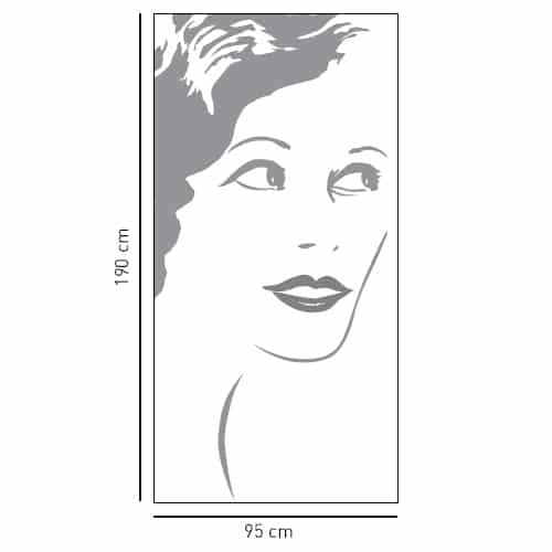 Sticker Silhouette femme dans une salle de bain