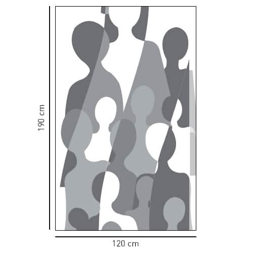 Sticker autocollant Grandes silhouettes déco pour salle de bain