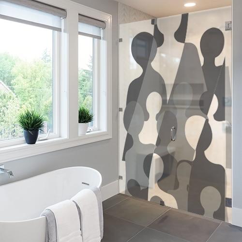 Sticker autocollant Grandes silhouettes pour paroi de douche