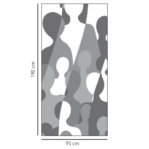 Sticker Grandes silhouettes pour salle de bain