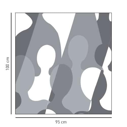 Sticker adhésif pour paroi de douche Grandes silhouettes