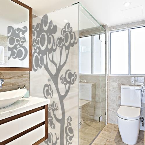 Sticker autocollant arbre psych d lique pour douche salle de bain - Decoration chambre psychedelique ...