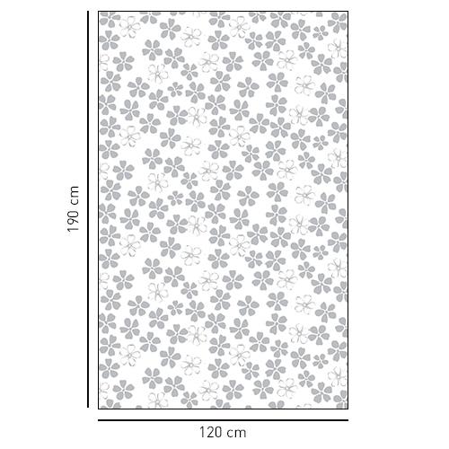 Sticker autocollant parterre fleuri déco de salle de bain
