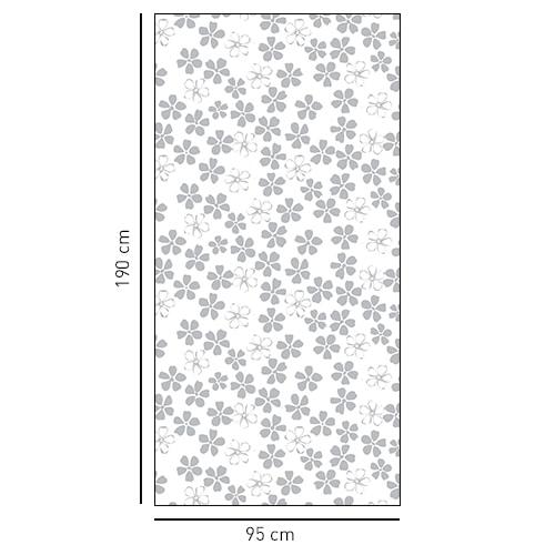 Sticker pour paroi de douche parterre fleuri