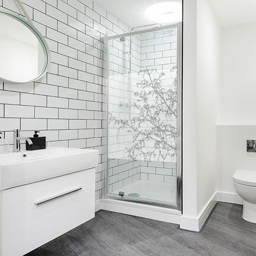 Sticker autocollant Buisson dans une salle de bain