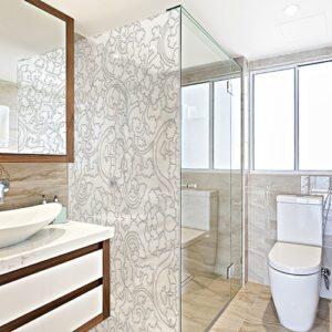 Sticker Arabesques déco dans une salle de bain