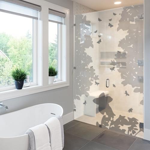 Sticker déco dans une salle de bain Vol de Papillons