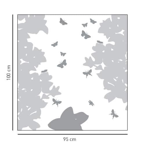 Sticker autocollant Vol de papillons pour salle de bain