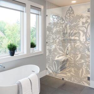 Sticker Urban Jungle dans une salle de bain