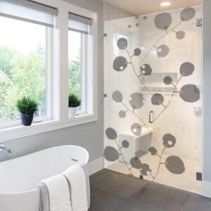 Sticker Branches psychédéliques dans une salle de bain
