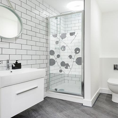 Sticker Branches psychédéliques dans une paroi de douche