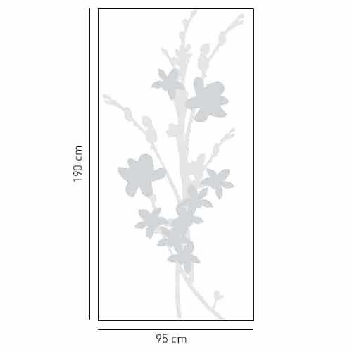 Sticker pour paroi de douche Bouquet d'Iris