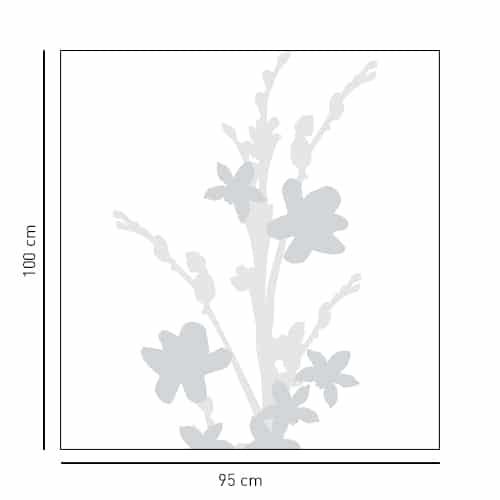 Sticker pour douche Bouquet d'Iris