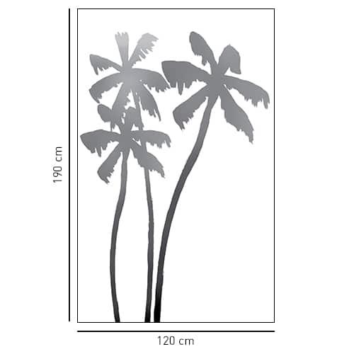 Sticker adhésif déco Palmiers pour salle de bain