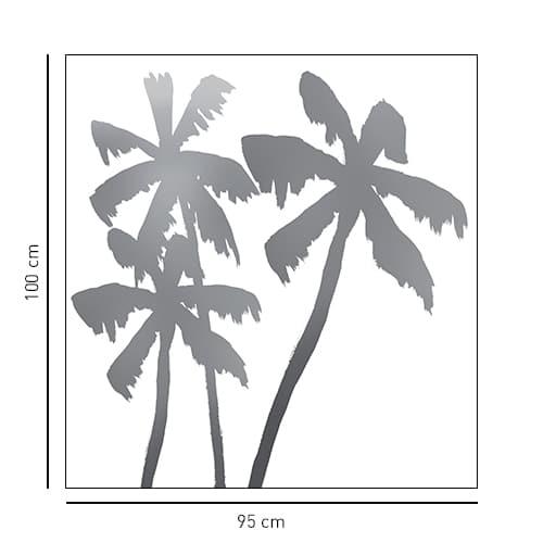 Autocollant adhésif Palmiers décoration de paroi de douche