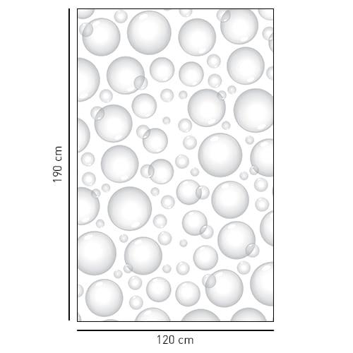 Sticker adhésif décoration de Bulles de Savon gris pour la salle de bain