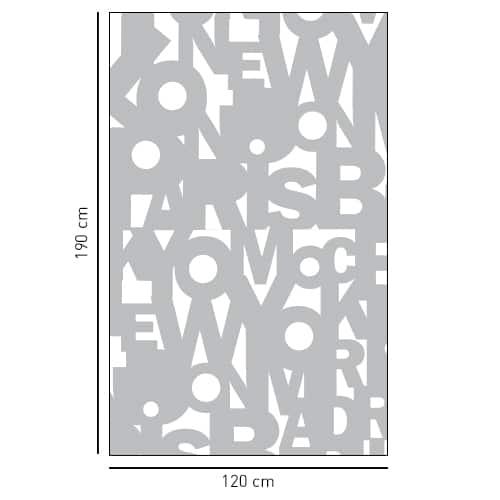 Stickers autocollant déco Capitales gris pour salle de bain