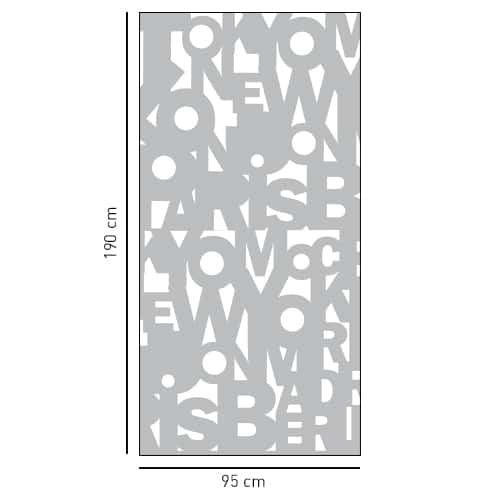 Sticker déco gris Capitales pour douche