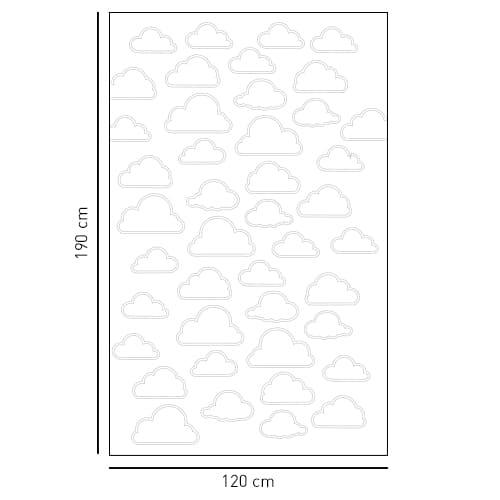 Stickers adhésif décoration gris Nuages pour paroi de douche de salle de bain