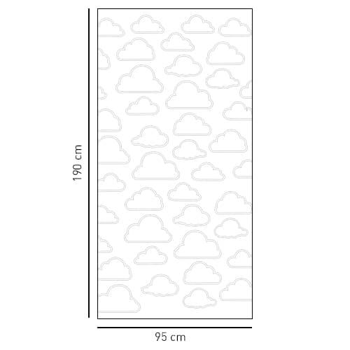 Sticker autocollant déco gris Nuage pour douche