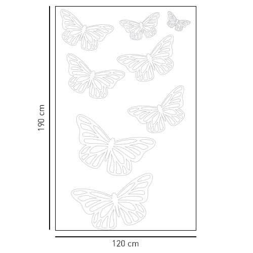 Stickers adhésif déco Petits Papillons pour paroi de douche