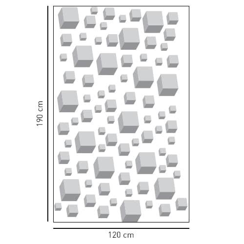 Stickers adhésif décoration Cubes 3D pour paroi de douche