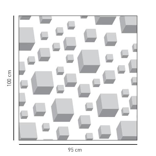 Adhésif déco salle de bain cubes 3D pour douche