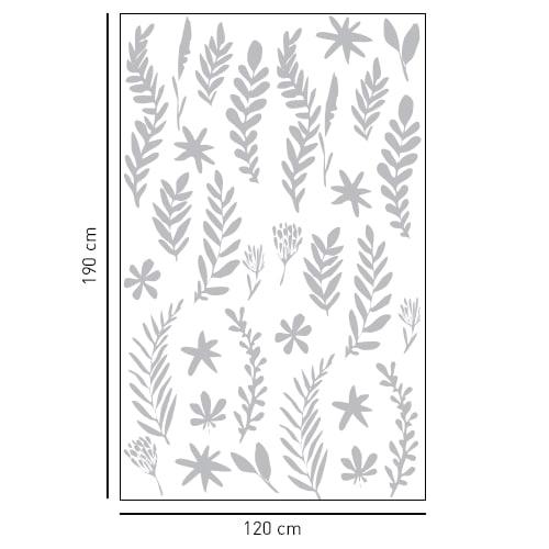 Sticker adhésif décoration Herbier pour paroi de douche de salle de bain