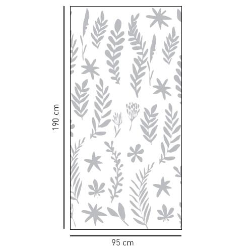 Adhésif sticker Herbier pour décoration douche