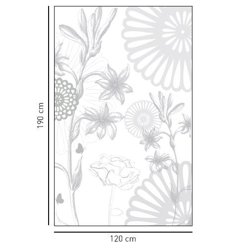 Sticker autocollant Fleurs des Champs pour décoration de paroi de douche