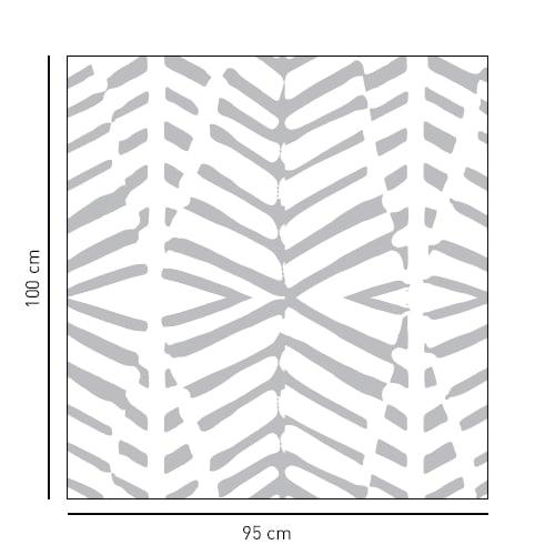Sticker autocollant décoratif déco pour paroi de douche formes géométriques gris