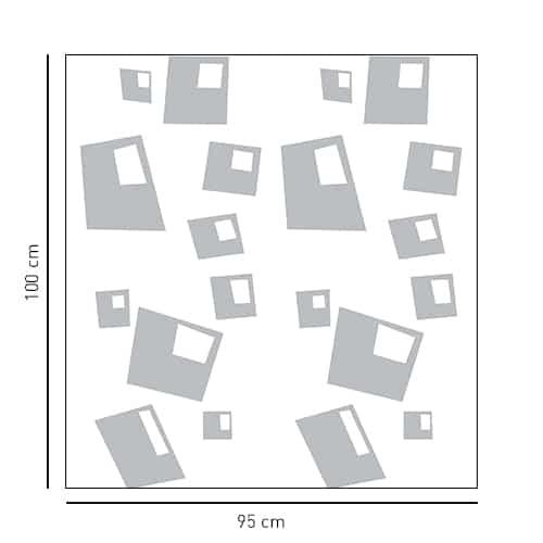 Sticker adhésif Bulles carrées pour paroi de douche