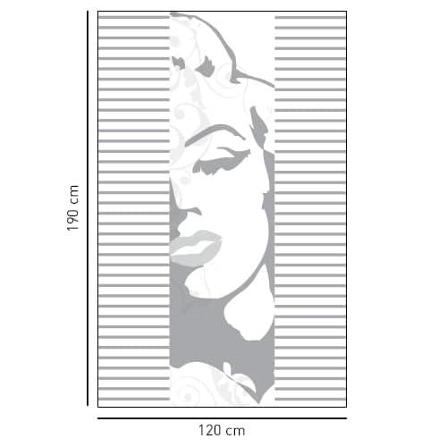 Sticker adhésif Maryline déco pour salle de bain