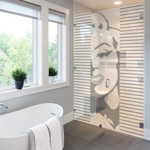Sticker autocollant Gatsby dans une salle de bain