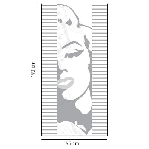 Sticker adhésif Marilyne pour paroi de douche
