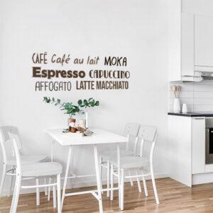 Sticker mural Cafe dans une salle à manger