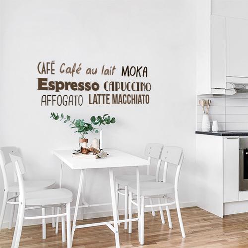 sticker d coration d 39 int rieur caf citation. Black Bedroom Furniture Sets. Home Design Ideas