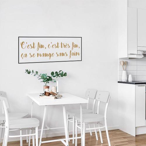 Sticker mural C'est fin dans une salle à manger