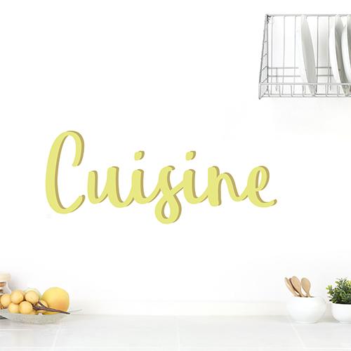 Sticker déco Cuisine sur un mur à côté d'une lampe