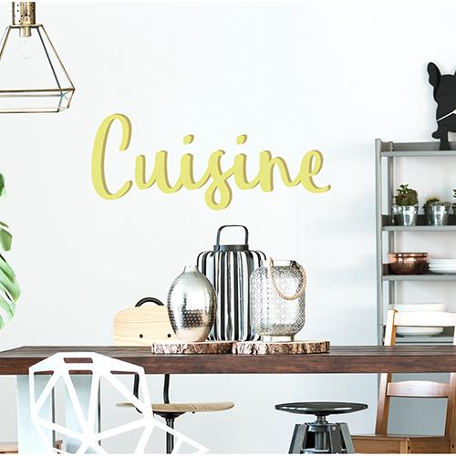 Sticker autocollant Cuisine au dessus d'une table à manger